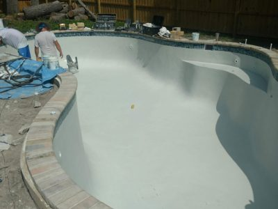Resurfacing Side Of Pool